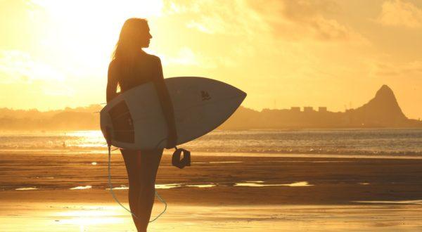 Surfing on the Sunshine Coast